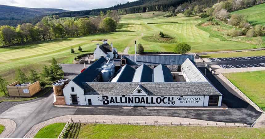 Ballindalloch Distillery aerial shot