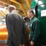 HRH Duke of Kent at Ballindalloch Distillery